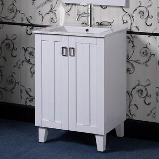 24-inch Single Sink Bathroom Vanity in White Finish