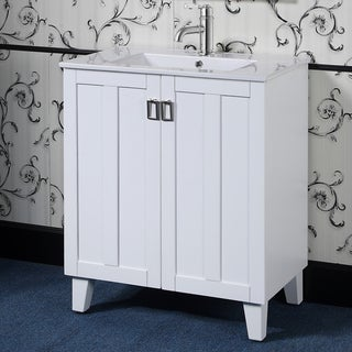 30-inch Single Sink Bathroom Vanity in White Finish