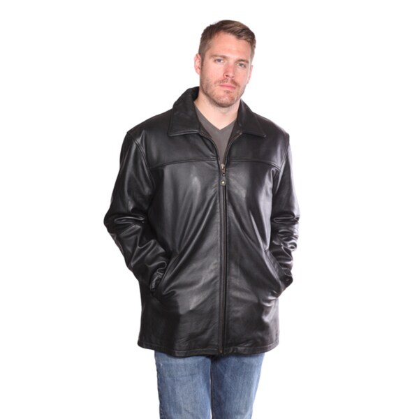 Christian Reed Men's Camden Leather Hipster Coat