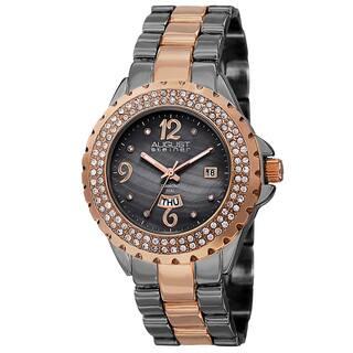 August Steiner Women's Quartz Diamond Two-Tone Bracelet Watch with FREE GIFT|https://ak1.ostkcdn.com/images/products/9826133/P16990831.jpg?impolicy=medium