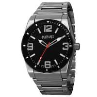 August Steiner Men's Swiss Quartz Easy to Read Markers Silver-Tone Bracelet Watch
