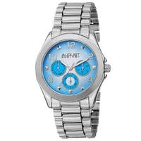 August Steiner Women's Quartz Colorful Dial Multifunction Silver-Tone Bracelet Watch