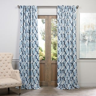 Exclusive Fabrics Voyager Rod Pocket Blackout Curtain Panel Pair