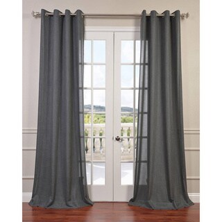 Exclusive Fabrics Faux Linen Grommet Top Curtain Panel