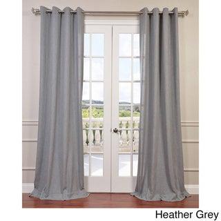 Exclusive Fabrics Faux Linen Grommet Top Curtain Panel
