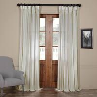 Exclusive Fabrics Antigua Striped Linen Sheer Curtain Panel