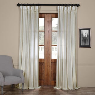 Exclusive Fabrics Antigua Striped Linen Sheer Curtain Panel
