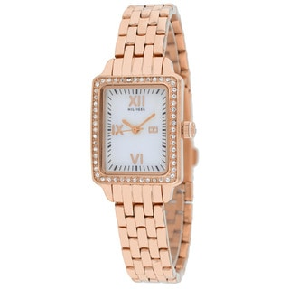 Tommy Hilfiger Women's 1781128 Whitney Rectangle Rosetone Bracelet Watch