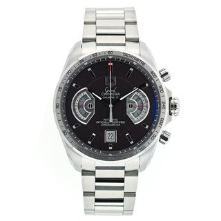 Tag Heuer Men's Grand Carrera Round Silvertone Bracelet Watch