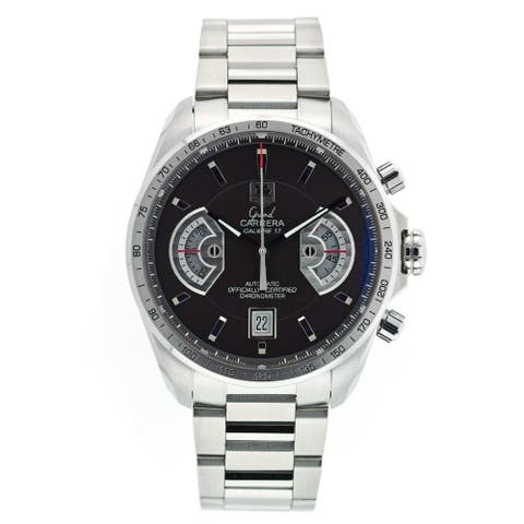 Tag Heuer Men's CAV511A.BA0902 'Grand Carrera' Chronograph Automatic Stainless Steel Watch