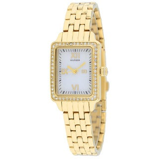 Tommy Hilfiger Women's 1781107 Whitney Rectangle Goldtone Bracelet Watch