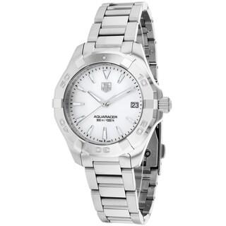 Link to Tag Heuer Women's WAY1312.BA0915 Aquaracer Round Silvertone Bracelet Watch Similar Items in Women's Watches