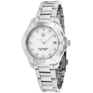 Tag Heuer Women's WAY1313.BA0915 Aquaracer Round Silvertone Bracelet Watch