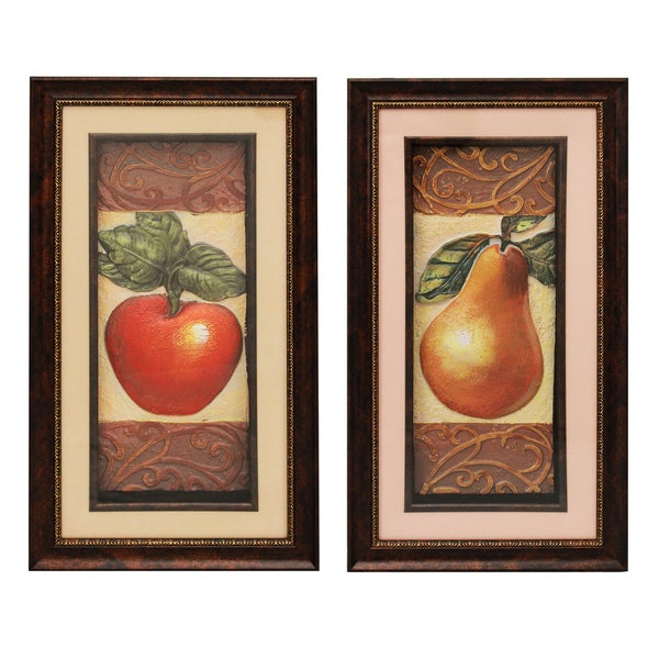 Shop Fruit 3d Framed Metal Art Prints Set Of 2 On