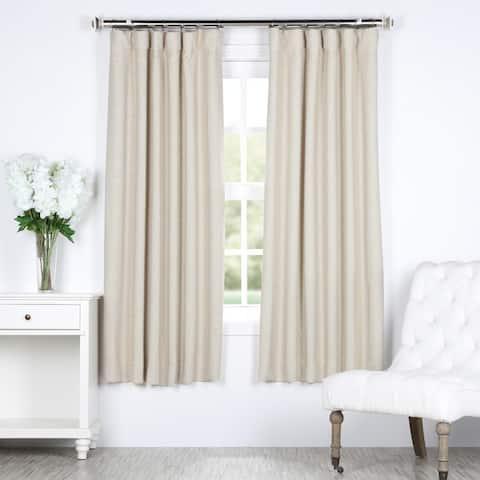 Exclusive Fabrics Bellino 63-Inch Rod Pocket Blackout Curtain Panel - 50 x 63