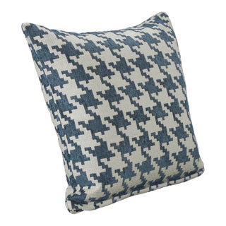 Blue Heeler Houndstooth Throw Pillow