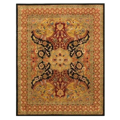 "Hand-tufted Wool Black Transitional Oriental Polonaise Rug (7'9 x 9'9) - 7'9"" x 9'9"""
