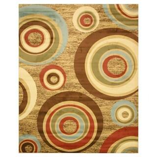 Beige Modern Abstract Prego Rug (5'3 x 7'3) - 5'3 x 7'3