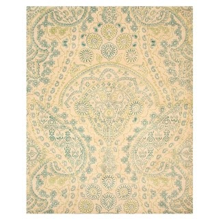 Hand-tufted wool Ivory Transitional Paisley Jain Rug (7'9 x 9'9)