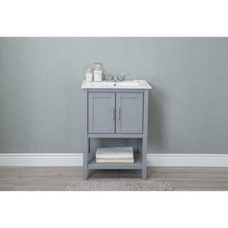 furniture bathroom vanity cabinets. legion 24-inch ceramic single sink grey bathroom vanity furniture cabinets -
