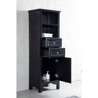 Corvus Espresso Bathroom Linen Tower