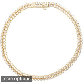 Journee Collection Sterling Silver Cubic Zirconia Double Row Tennis Bracelet