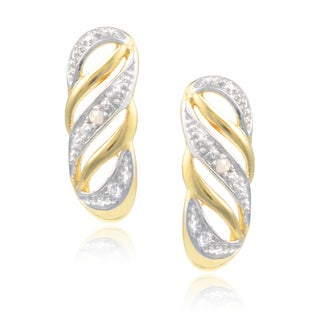 Journee Collection Sterling Silver Diamond Accent Stud Earrings