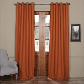 Exclusive Fabrics Bellino 108-Inch Grommet Top Blackout Curtain Panel