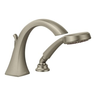 Moen Voss Brushed Nickel High Arc Roman Tub Faucet with Hand Shower