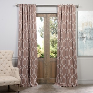 Exclusive Fabrics Lisbon Bronze Blackout Curtain Panel Pair