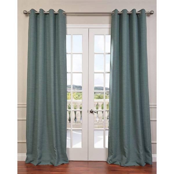exclusive fabrics bellino grommet top 96 inches blackout curtain panel free shipping on orders. Black Bedroom Furniture Sets. Home Design Ideas