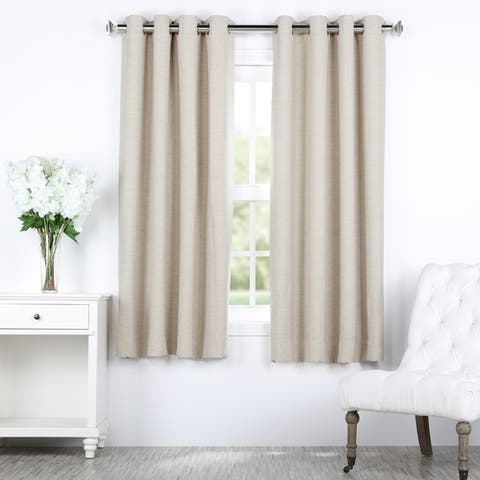 Exclusive Fabrics Bellino Grommet Top 63-Inch Blackout Curtain Panel - 50 x 63
