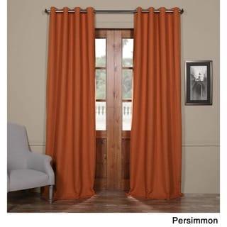 Exclusive Fabrics Bellino Grommet Top 84-Inch Blackout Curtain Panel