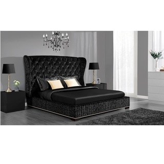 Avenue Greene Luxe Premium Velvet Upholstered Bed