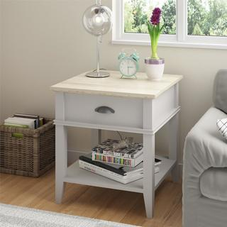 Ameriwood Home Laguna Oak Sharkey Grey End Table