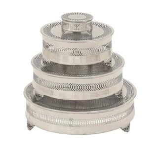 Casa Cortes Metal 4-piece Round Cake Stand