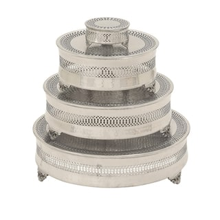 Casa Cortes Metal 4-piece Round Cake Stand|https://ak1.ostkcdn.com/images/products/9826699/P16991129.jpg?impolicy=medium