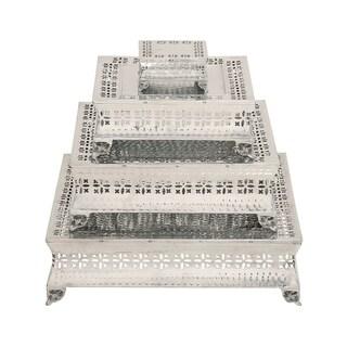 Casa Cortes Aluminum 4-piece Square Cake Stand