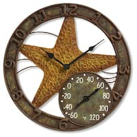 "Taylor Springfield 14"" Starfish Clock with Thermometer"