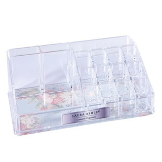 Laura Ashley 16-Section Cosmetic and Jewelry Holder