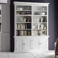 Havenside Home North Bend White Mahogany Double-bay Hutch Unit