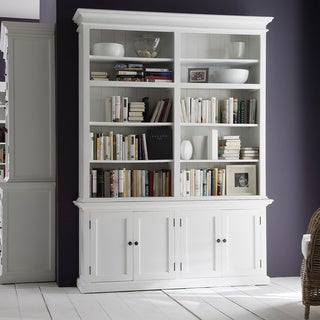 NovaSolo White Mahogany Double Bay Hutch Unit