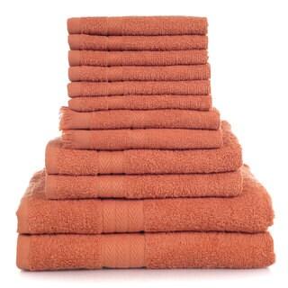 Lavish Home 100-percent Cotton 800 GSM 12-piece Towel Set