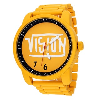 Xtreme Vision Yellow Metal Round Watch