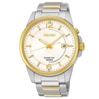 Seiko Men's SKA672 Men's Stainless Steel KineticTwo Tone Watch