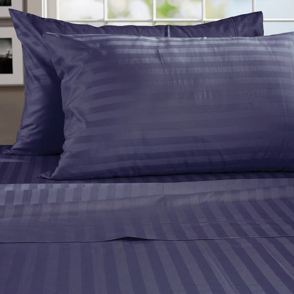 Egyptian Cotton Damask Stripe 800 Thread Count Sheet Set Overstock 9827154