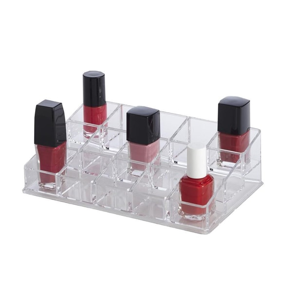 Chic Acrylic 15-compartment Nail Polish Organizer