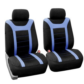 FH Group Blue and Black Sports Front Bucket Seats Covers (Set of 2)