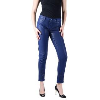 Bleulab Women's Cobalt Blue Reversible Jean