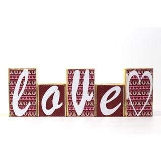 Love/ Lucky Reversable Block Decorative Accessory